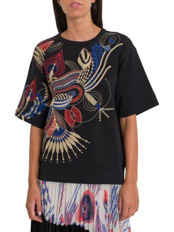 Dries Van Noten Embroidered Short Sleeves Sweatshirt