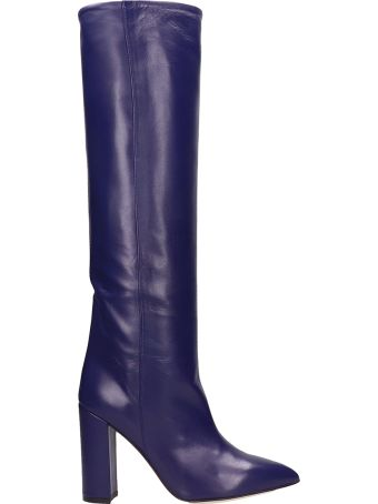 Paris Texas Indaco Leather High Boots