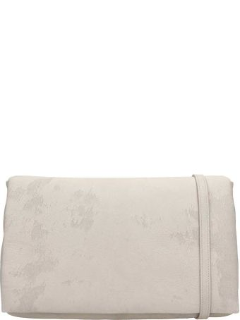 Rick Owens Grey Leather Adri Med Flap Bag