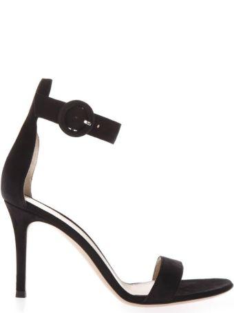 Gianvito Rossi 80mm Black Suede Sandals