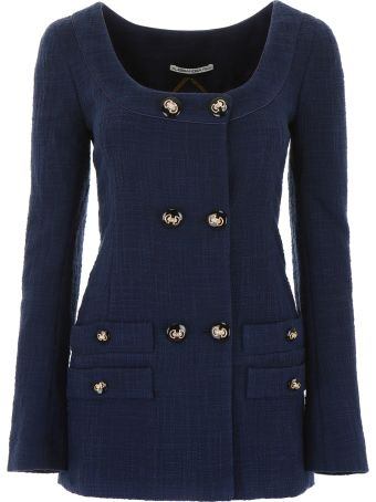Alessandra Rich Long Tweed Jacket