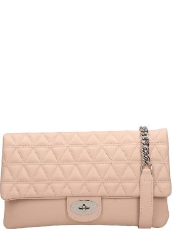 Marc Ellis Smooth And Quilted Pink Leather Maya Bag
