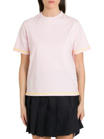 Thom Browne Contrast Stitching Tee
