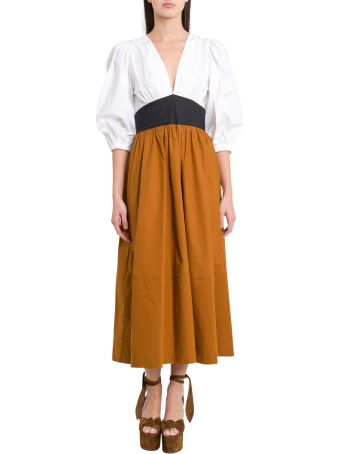 Isa Arfen Long Colorblock Dress