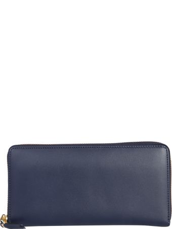 Comme des Garçons Wallet Zip Around Leather Wallet