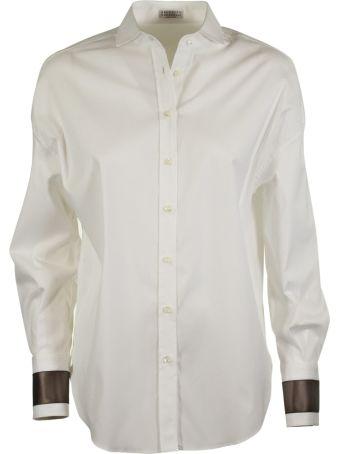 Brunello Cucinelli Contrast Cuffs Shirt