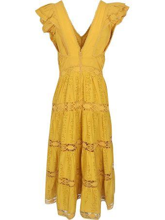Sea V-neck Perforated Dress