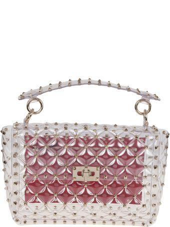 Valentino Garavani Medium Rockstud Transparent Shoulder Bag