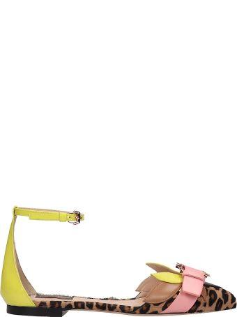Paula Cademartori Multicolor Leather Calla Sandals