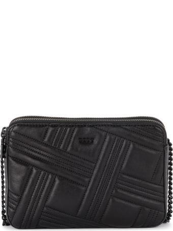 DKNY Allien Black Quilted Leather Shoulder Bag