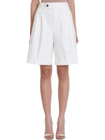 Mauro Grifoni White Cotton Shorts