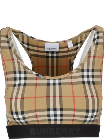 Burberry Checked Cropped Tank Top