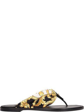 Versace Open Toe Flip Flop Sandals