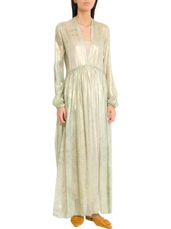 Forte_Forte Long Voile Dress With Underwater Love Print