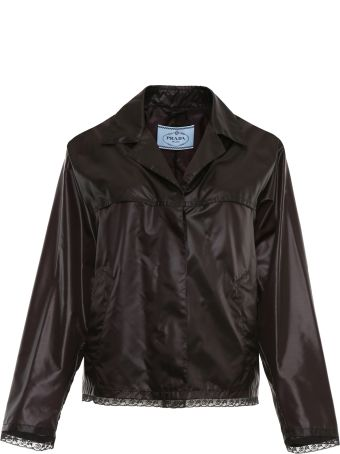 Prada Linea Rossa Nylon And Lace Jacket