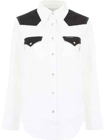 Calvin Klein Jeans Bicolor Cotton Shirt