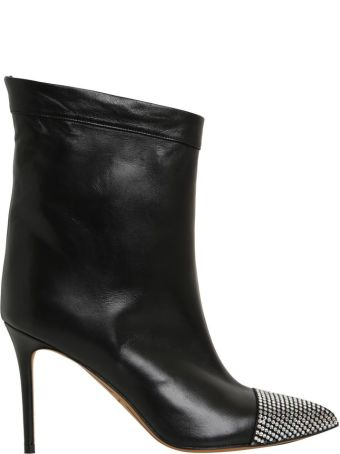 Alexandre Vauthier Chacha Crystals Leather Boots