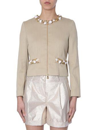 Boutique Moschino Shot-cotton Jacket
