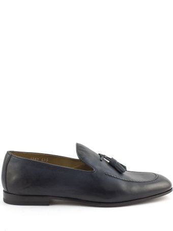 Doucal's Blue Soft Leather Loafer