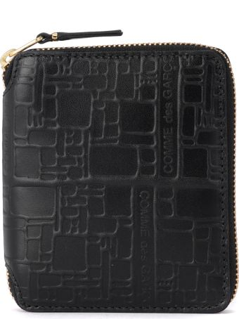 Comme des Garçons Wallet Comme Des Garçons Black Printed Leather Wallet
