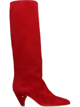 Laurence Dacade Salome Red Suede Boots