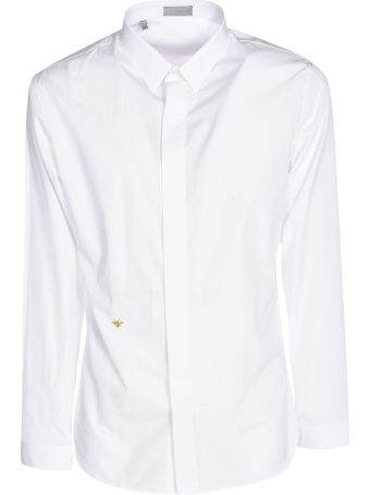 Christian Dior Logo Embroidered Shirt