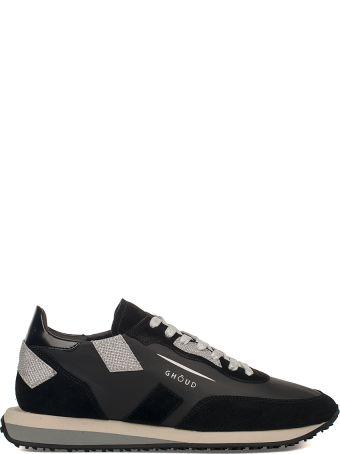 GHOUD Black/silver Ghouds Leather Sneakers