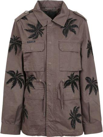 Philipp Plein Palm Printed Cargo Jacket