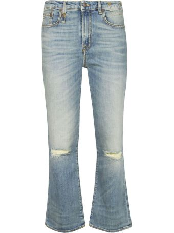 R13 Kick Fit Flared Leg Jeans