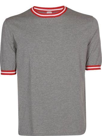 Eleventy Striped Detail T-shirt