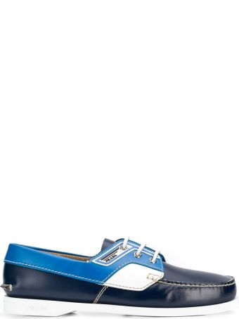 Prada Lace Up Boat Shoes