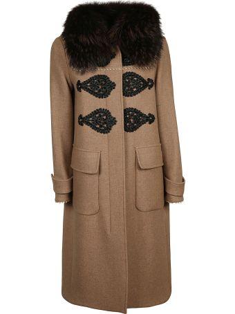 Bazar Deluxe Faux-fur Detail Coat