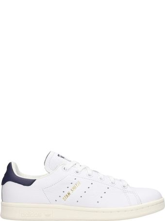 Adidas Stan Smith Sneakers In White Leather