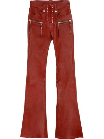 Ben Taverniti Unravel Project Vintage Leather Flared Trousers