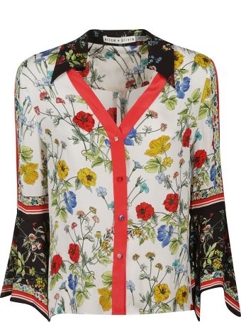 Alice + Olivia Floral Flared Shirt