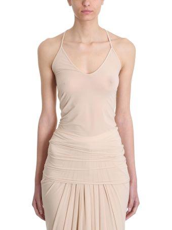 Rick Owens Lilies Nude Viscose Top