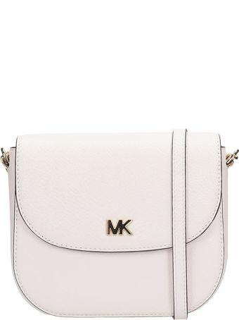 Michael Kors White Grained Leather Half Dome Bag