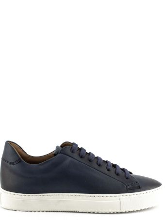 Doucal's Sneakers In Blue Leather.