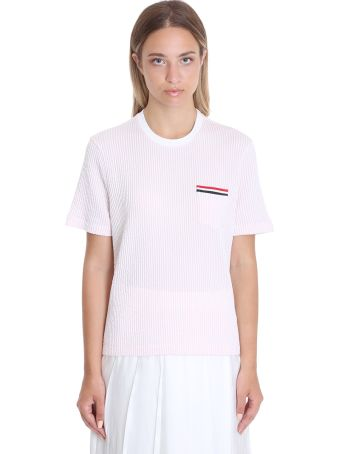 Thom Browne T-shirt In Rose-pink Cotton