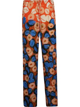 Dries Van Noten Tropical Print Long Trousers