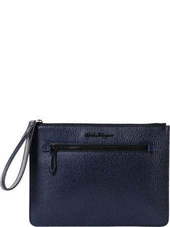 Salvatore Ferragamo Revival Metal Clutch