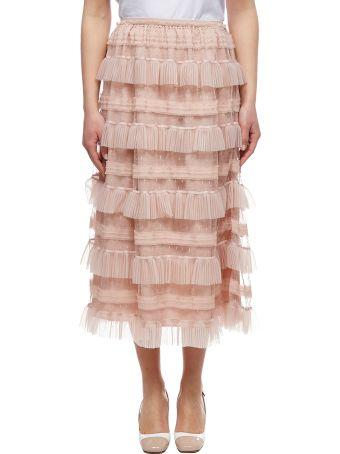 RED Valentino Ruffled Tiered Skirt