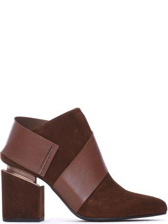 Vic Matié Ankle Boots Cognac-coloured Suede Strap