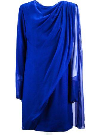 Lanvin Sapphire-tone Silk Dress