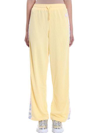 Fila Adora Yellow Wide Leg Joggers