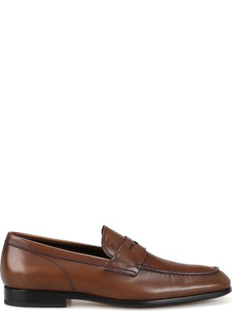 Tod's Smooth Leather Brown Loafers Xxm51b00010d9cs801