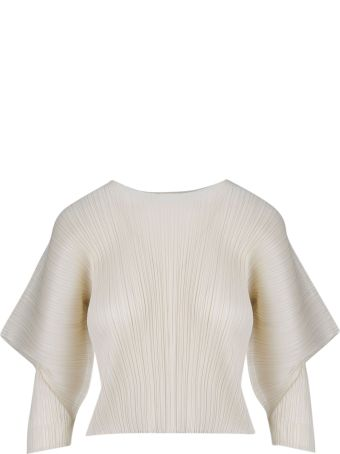 Pleats Please Issey Miyake Pleats Please By Issey Miyake Puffed Pleated Top