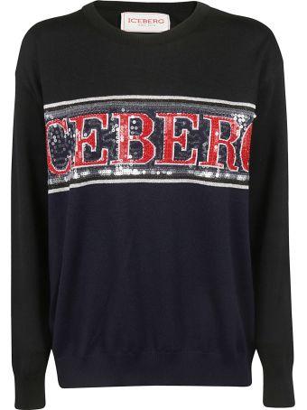 Iceberg Contrast Logo Sweater