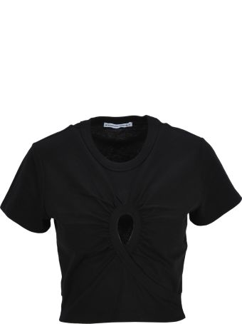T by Alexander Wang Tshirt Crop Hole