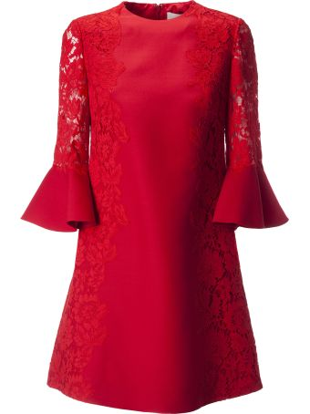 Valentino Lace Trim Mini Dress